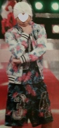 櫻井翔嵐にしやがれ着用の衣装 Tシャツ ハーフパンツ きゃりーぱみゅぱみゅ