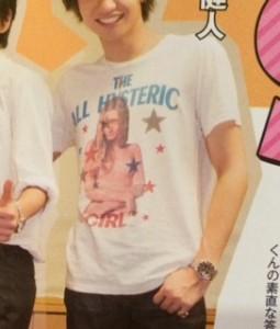 中島健人私服Tシャツ