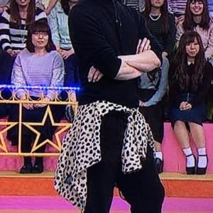 嵐衣装 松本潤11月13日VS嵐着用ヒョウ柄シャツ