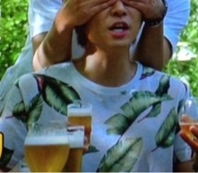 相葉雅紀 一番搾り 目隠し編着用の衣装 Tシャツ