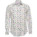 加藤シゲアキさん着用の衣装◆時をかける少女 4話◆車柄シャツ