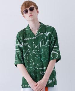 大野智 嵐 衣装 メンズノンノ 開襟シャツ