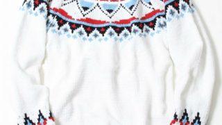 11/27のZIPで二宮和也さんが着用していた衣装のcoenモールカラーキュウシンクルーネックニット
