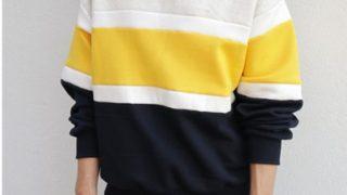 嵐 相葉雅紀さんが1/18 VS嵐で着用した衣装のdholic 裏起毛コントラストカラースウェットプルオーバー