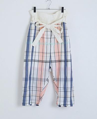 嵐 大野智さんが2/8 VS嵐で着用した衣装のsneeuw スティッチチェックタイパンツ