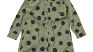 3/24 いただきハイジャンプで 薮宏太くん着用の衣装のcube sugar evo.(キューブシュガーエボ) ツイルドット総柄ワークシャツワンピース