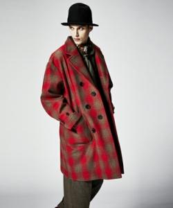 NEWS小山慶一郎さんが3/16放送のザ少年倶楽部プレミアムで着用した衣装のJohnbull Private labo メルトンチェックオーバーコート