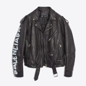 QR Zoneの菊池風磨くん着用の私服 BALENCIAGA ペインテッドバイカージャケット