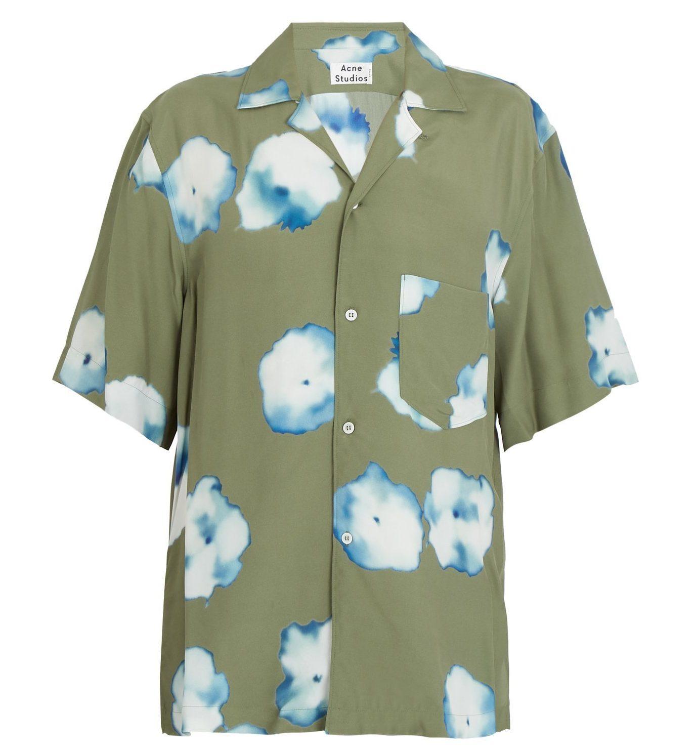 JAL先得CM 夏旅篇で松本潤さん着用の衣装・ACNE STUDIOS Elms short-sleeved floral-print shirt