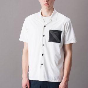 浮所飛高くん着用の衣装・BLACK lab レーザーカットストレッチテックオープンカラーシャツ