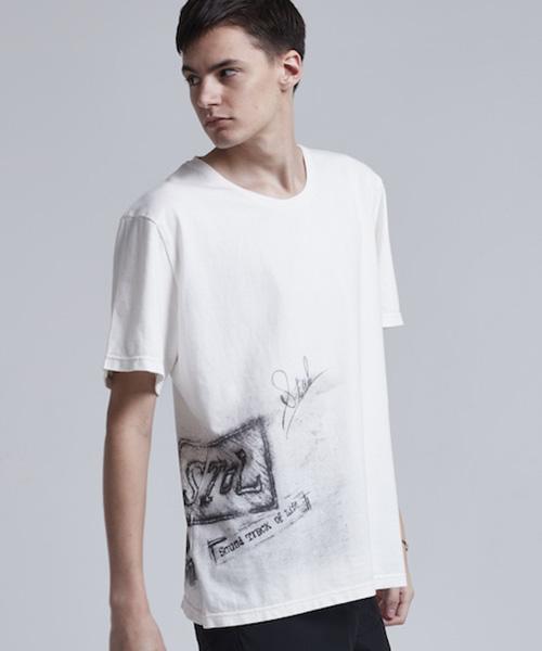 もしもツアーズ 6/2放送で 藤ヶ谷太輔さん着用の衣装・SToL(ストル)】【予約販売4月入荷予定】18SS-Cu009-Print T-Shirt Tシャツ