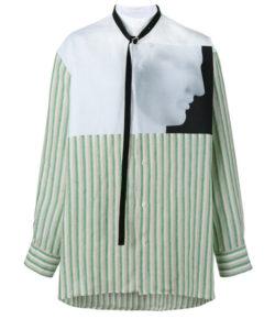 中島裕翔くんがCOSMIC☆HUMANで着用した衣装・Raf Simons(ラフ・シモンズ)の、Ermes ストライプ柄 シャツ