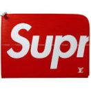 """松本潤さんの私物・ LOUIS VUITTON Supreme ルイ・ヴィトン シュプリーム クラッチ バッグ """"ポシェット ジュール GM"""" 赤×白 エピ M67722 (LOUIS VUITTON Clutch Pouch Bag """"Pochette Jour GM"""" Red"""