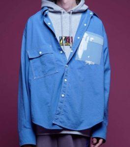 10/4放送のVS嵐で松本潤さん着用の衣装・MYne】クリアポケットシャツ/Clear pocket shirt