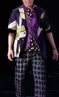 嵐衣装 櫻井翔Zero-G着用 千鳥格子柄パンツ