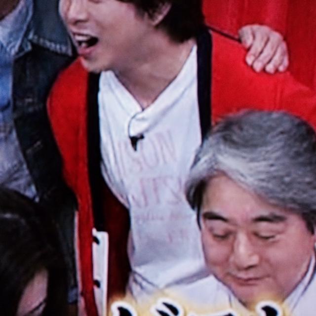 櫻井翔 4月18日嵐にしやがれ着用衣装 カーディガン・Tシャツ