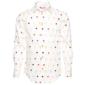 men-s-ice-cream-cones-patterned-regular-cut-shirt