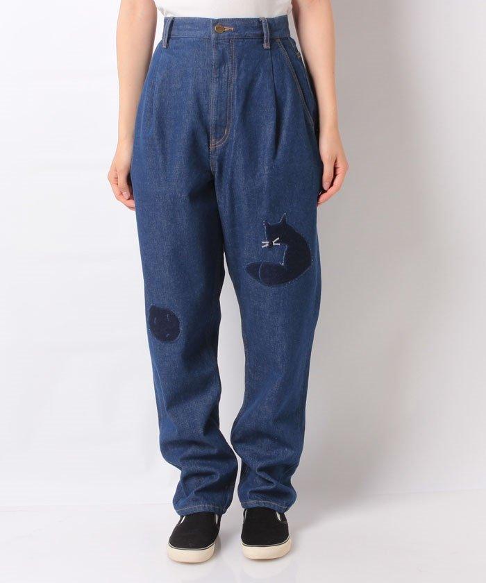 12/14のVS嵐で二宮和也さん着用している衣装の Nenetのきつね&じゃがパッチデニム