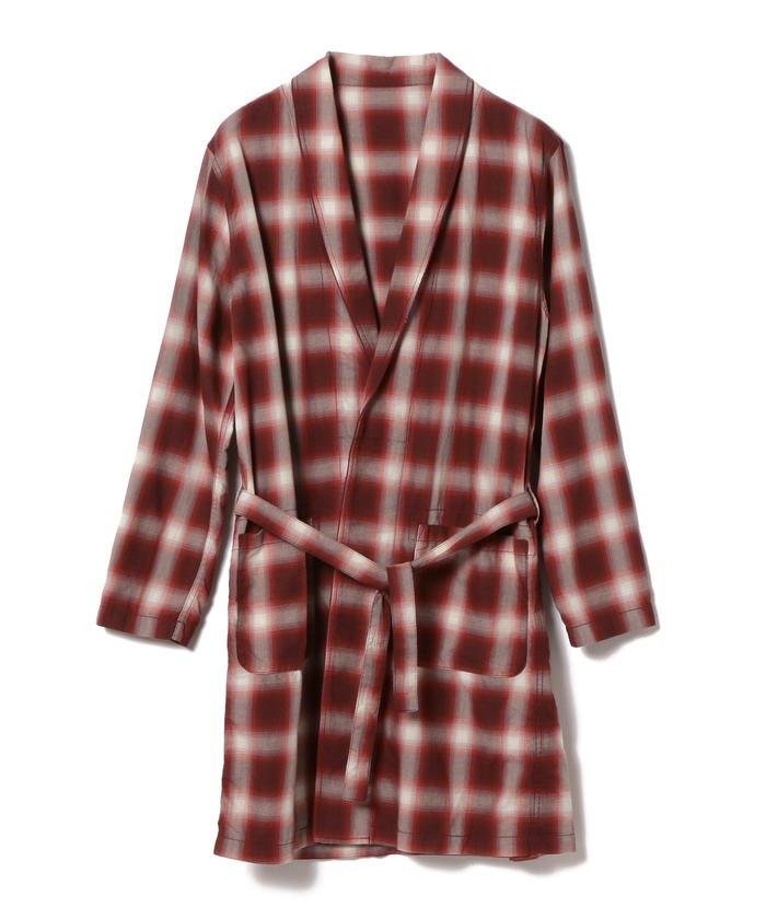 BEAMS オンブレチェックガウン 2/17 嵐にしやがれ で櫻井翔くん着用の衣装