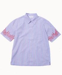 5/12放送いただきハイジャンプで 有岡大貴くん着用の衣装 DISCOVERED Fire刺繍シャツ