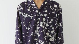 もしもツアーズで河合郁人さん着用の衣装・STUDIOUS スプラッシュオープンカラーシャツ