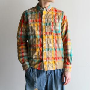 5/26 嵐にしやがれにて二宮和也さん着用の衣装・sacai Sucker Check Shirt チェックシャツジャケット