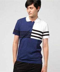 ワクワク学校2018年 相葉雅紀さん着用のポロシャツ・LACOSTE クレイジーパターンボーダーポロシャツ