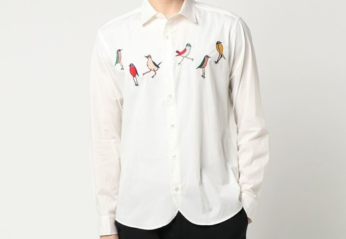Cancam二宮和也さん(ニノ)着用の鳥柄シャツ・FRAPBOIS フラボア Birdシャツ