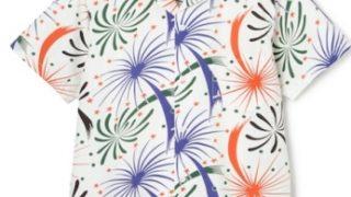 """嵐にしやがれで長瀬智也さん着用の衣装・ARTtraction SPORTOGS """"FIREWORKS"""" S/S COTTON SHIRT"""