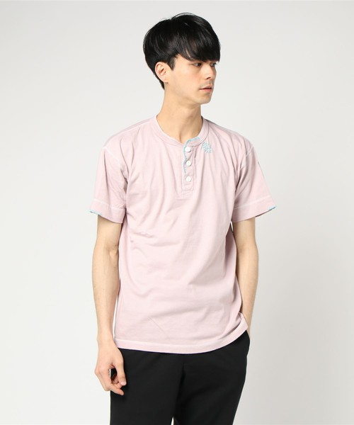 VS嵐で大野智さん着用の衣装・AYUITE/アユイテ/hand stitch embroidery henley neck t-shirts