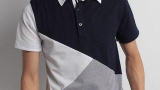ワクワク学校2018で 二宮和也さん着用の衣装・UNION STATIONパネル切り替え鹿の子ポロシャツ