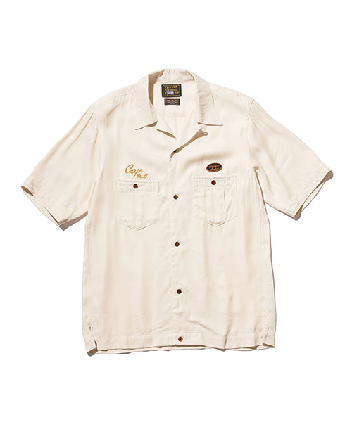 VS嵐 二宮和也さん着用の衣装のシャツ・MR.OLIVE / VANSON × MR.OLIVE COLLABORATION / VINTAGE RAYON BOWLING SHIRT