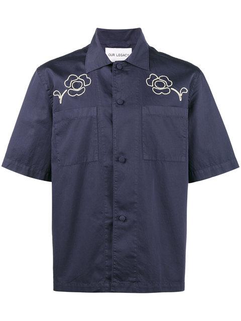 山田涼介さん着用の私服シャツ・OUR LEGACY Splash 半袖シャツ