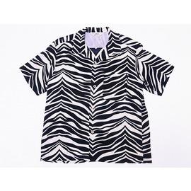 8/2VS嵐で 松本潤さん着用の衣装のアロハシャツ・STAR OF HOLLYWOOD[スターオブハリウッド] オープンシャツ ZEBRA