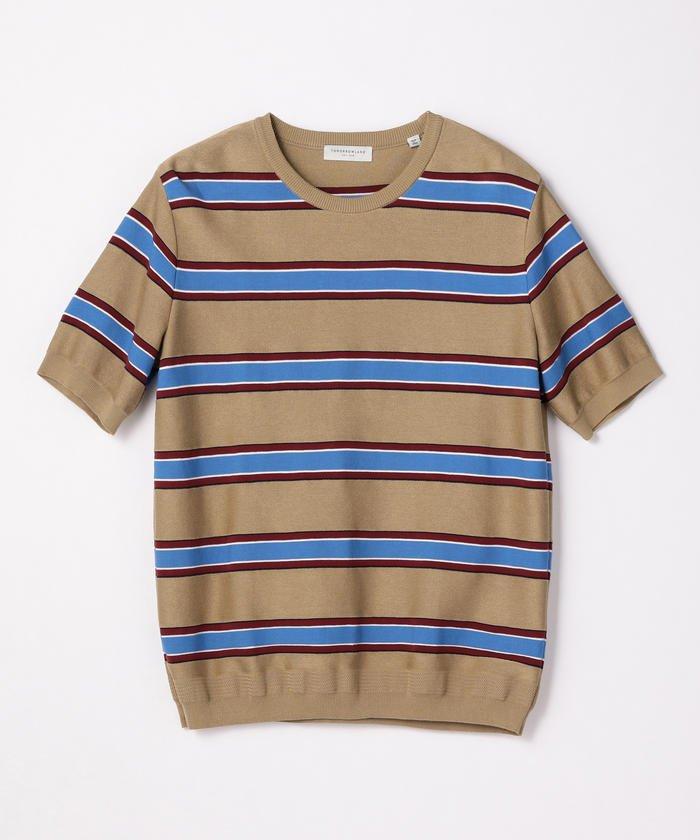 嵐にしやがれで二宮和也さん着用の衣装・TOMORROWLAND MENS tricot レトロボーダー ニットTシャツ