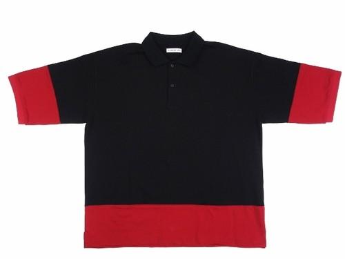 8/30大野智さん着用の衣装・ポロシャツ  POLO SHIRTS BLACK×RED 18AW-FS-28