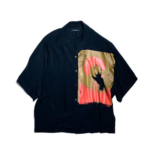 嵐にしやがれにて 平野紫耀くん着用の衣装・シャツ【FAN別注】ALMOSTBLACK OPEN COLLAR SHIRT