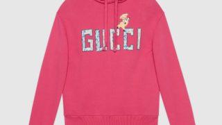GQ JAPANの表紙、松本潤さん着用の衣装・GUCCI グッチ 18AW ローズバッドロゴ 子ブタパッチ フーディー