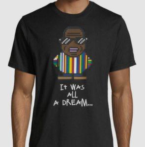 ヒルナンデス 有岡大貴 衣装 10/30 Mostly Heard Rarely Seen Men's It Was All A Dream Biggie Smalls Graphic T-Shirt
