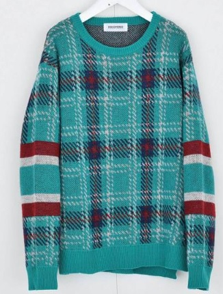 bisで平野紫耀くん着用のニット・DISCOVERED / Check line sweater