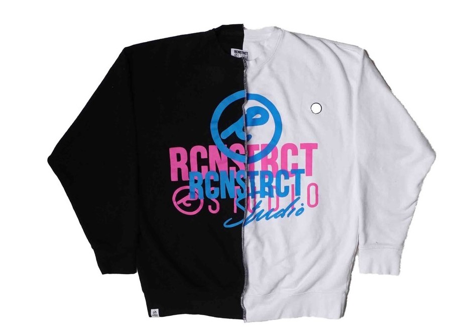 日テレ系人気番組で有岡大貴 衣装 スウェット・RCNSTRCT HALF/HALF CREW
