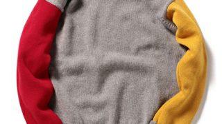 2019年 嵐 年賀状 相葉雅紀 衣装 BEAMS LIGHTS(ビームスライツ)の「COUNTRY OF ORIGIN / マルチカラークルーネックセーター