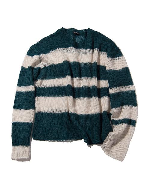 11/1 VS嵐 櫻井翔くんの衣装・GLAMB by glamb Border knit