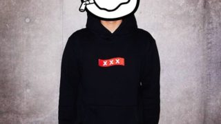 亀梨和也 私服 パーカー GOD SELECTION XXX BOX LOGO HOODIE