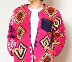 キンプリ 高橋海人 衣装 チャイハネプリントボア×無地リバーシブルMEN'Sジャケット