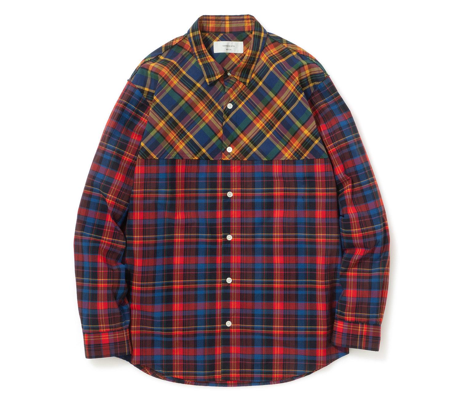 櫻井翔 VS嵐 衣装 2/21 SANDINISTA 2 Tone Check Shirt