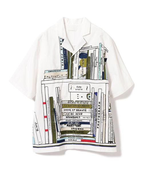 嵐にしやがれ 松本潤 衣装 シャツ 2/9 mii × I.G.BEAMS / 別注 総柄 オープンカラー