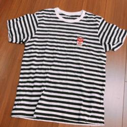 松村北斗 私服 Tシャツ ユニクロ キャンベルスープ ボーダー Tシャツ