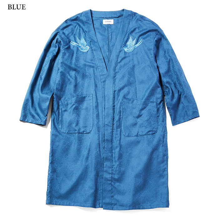 玉森裕太 duet 衣装 CHORD NUMBER EIGHT SWALLOW EMBROIDERY GOWN SHIRT