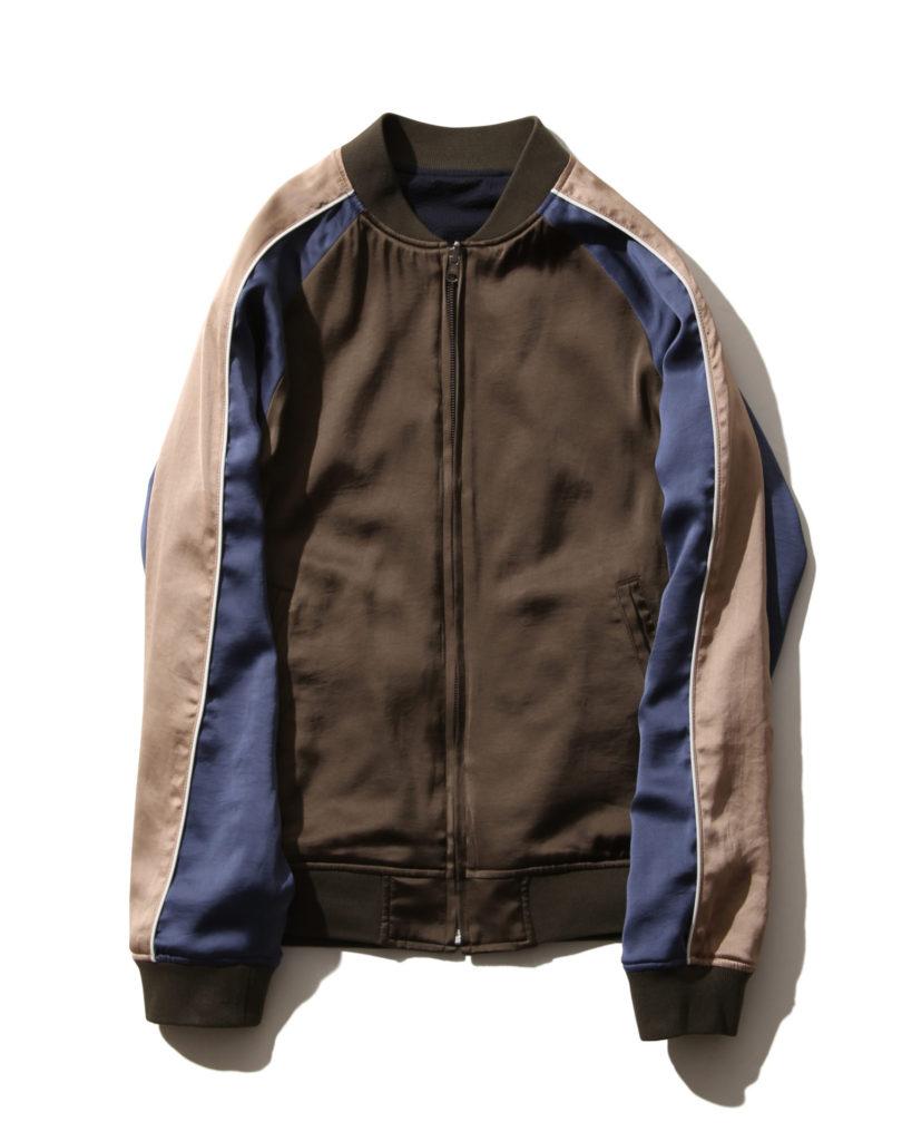 大野智 嵐にしやがれ 3/16 FACTOTUM サテン&シアサッカー リバーシブル刺繍スカジャン